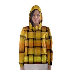 Rough Gold Weaving Pattern Hooded Wind Breaker (women)