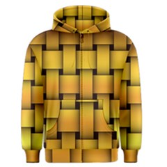 Rough Gold Weaving Pattern Men s Zipper Hoodie