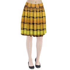 Rough Gold Weaving Pattern Pleated Skirt