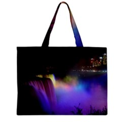 Niagara Falls Dancing Lights Colorful Lights Brighten Up The Night At Niagara Falls Mini Tote Bag