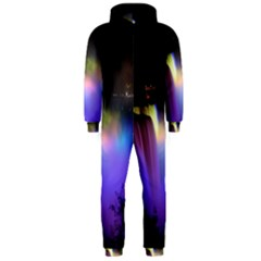 Niagara Falls Dancing Lights Colorful Lights Brighten Up The Night At Niagara Falls Hooded Jumpsuit (Men)