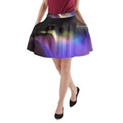 Niagara Falls Dancing Lights Colorful Lights Brighten Up The Night At Niagara Falls A Line Pocket Skirt