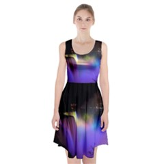 Niagara Falls Dancing Lights Colorful Lights Brighten Up The Night At Niagara Falls Racerback Midi Dress