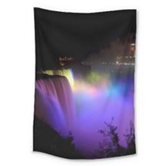 Niagara Falls Dancing Lights Colorful Lights Brighten Up The Night At Niagara Falls Large Tapestry