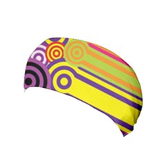 Retro Circles And Stripes Colorful 60s And 70s Style Circles And Stripes Background Yoga Headband