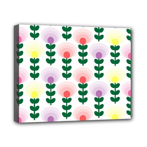 Floral Wallpaer Pattern Bright Bright Colorful Flowers Pattern Wallpaper Background Canvas 10  X 8