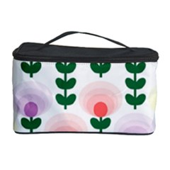 Floral Wallpaer Pattern Bright Bright Colorful Flowers Pattern Wallpaper Background Cosmetic Storage Case