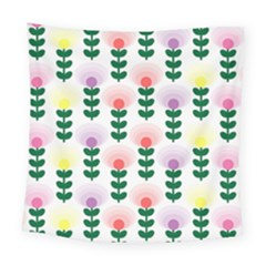 Floral Wallpaer Pattern Bright Bright Colorful Flowers Pattern Wallpaper Background Square Tapestry (large)