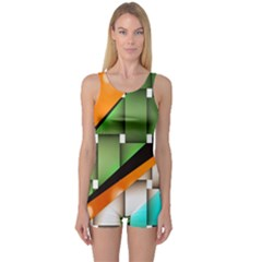 Abstract Wallpapers One Piece Boyleg Swimsuit
