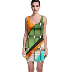 Abstract Wallpapers Sleeveless Bodycon Dress