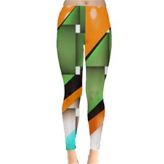Abstract Wallpapers Leggings