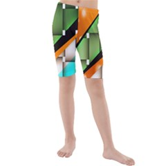Abstract Wallpapers Kids  Mid Length Swim Shorts