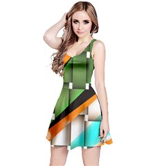 Abstract Wallpapers Reversible Sleeveless Dress