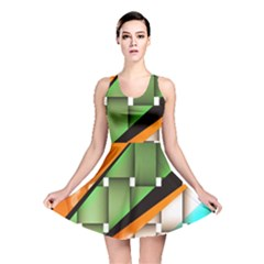 Abstract Wallpapers Reversible Skater Dress