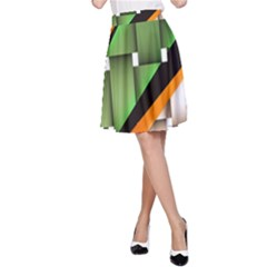 Abstract Wallpapers A-Line Skirt