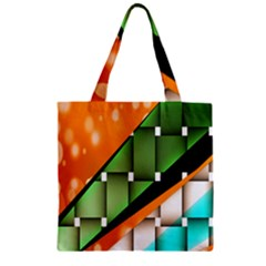 Abstract Wallpapers Zipper Grocery Tote Bag