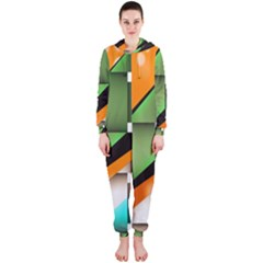 Abstract Wallpapers Hooded Jumpsuit (ladies)