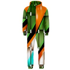 Abstract Wallpapers Hooded Jumpsuit (Men)