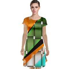Abstract Wallpapers Cap Sleeve Nightdress