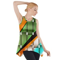 Abstract Wallpapers Side Drop Tank Tunic