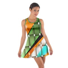 Abstract Wallpapers Cotton Racerback Dress