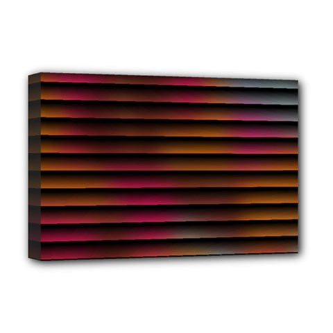 Colorful Venetian Blinds Effect Deluxe Canvas 18  x 12