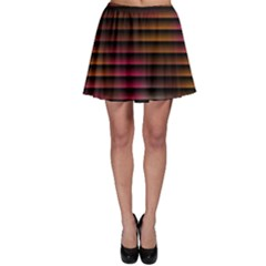 Colorful Venetian Blinds Effect Skater Skirt