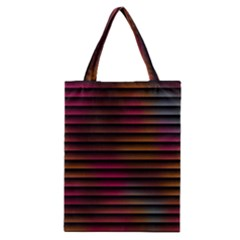 Colorful Venetian Blinds Effect Classic Tote Bag