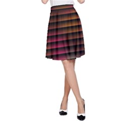 Colorful Venetian Blinds Effect A-Line Skirt