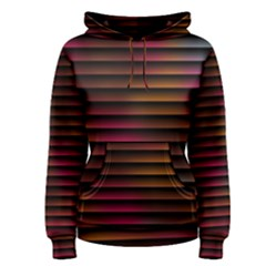 Colorful Venetian Blinds Effect Women s Pullover Hoodie