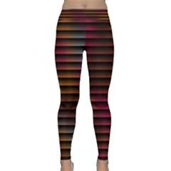 Colorful Venetian Blinds Effect Classic Yoga Leggings