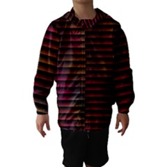 Colorful Venetian Blinds Effect Hooded Wind Breaker (kids)