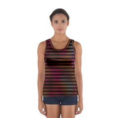 Colorful Venetian Blinds Effect Women s Sport Tank Top
