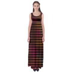 Colorful Venetian Blinds Effect Empire Waist Maxi Dress