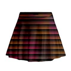 Colorful Venetian Blinds Effect Mini Flare Skirt