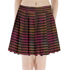 Colorful Venetian Blinds Effect Pleated Mini Skirt