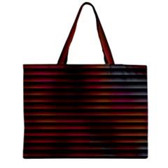Colorful Venetian Blinds Effect Medium Zipper Tote Bag