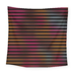 Colorful Venetian Blinds Effect Square Tapestry (large)