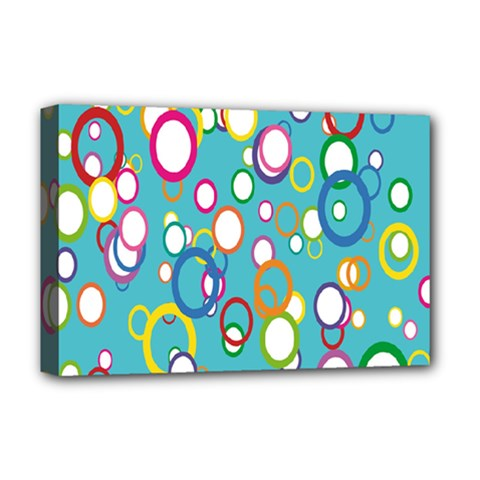 Circles Abstract Color Deluxe Canvas 18  X 12