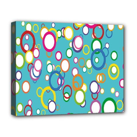 Circles Abstract Color Deluxe Canvas 20  x 16