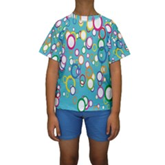 Circles Abstract Color Kids  Short Sleeve Swimwear