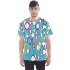 Circles Abstract Color Men s Sport Mesh Tee