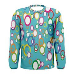 Circles Abstract Color Men s Long Sleeve Tee