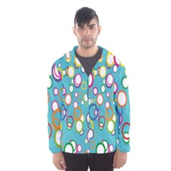 Circles Abstract Color Hooded Wind Breaker (men)