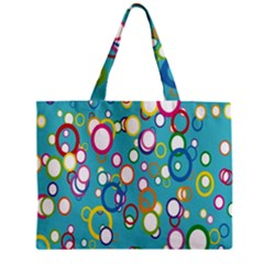 Circles Abstract Color Zipper Mini Tote Bag