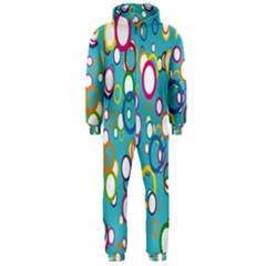 Circles Abstract Color Hooded Jumpsuit (Men)