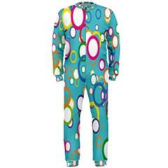 Circles Abstract Color Onepiece Jumpsuit (men)