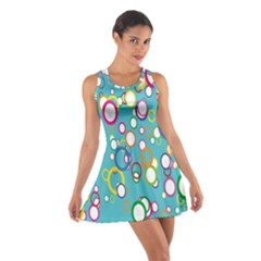Circles Abstract Color Cotton Racerback Dress