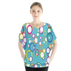 Circles Abstract Color Blouse
