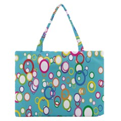 Circles Abstract Color Medium Zipper Tote Bag